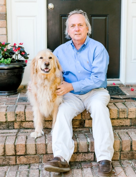dr. Dale Tanner with his dog