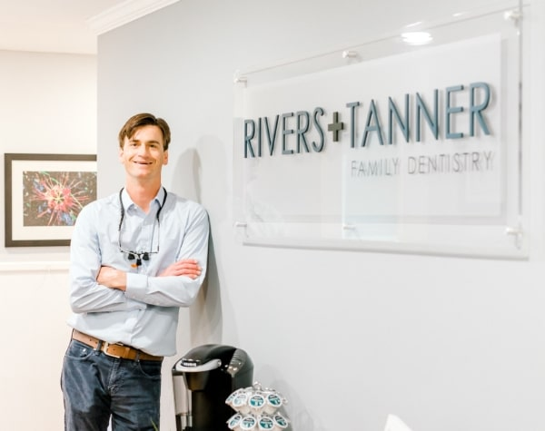 Dr. Rivers in his dental office
